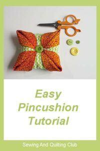 Easy Pincushion tutorial