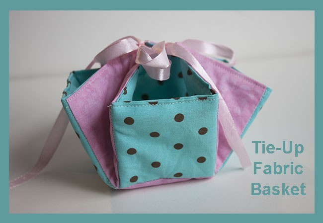 Tie-up Fabric Basket