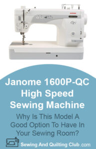 Janome 1600P-QC High Speed Review