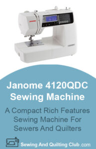 janome 4120qdc sewing machine Review