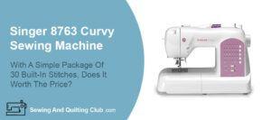 Singer 8763 Curvy Sewing Machine