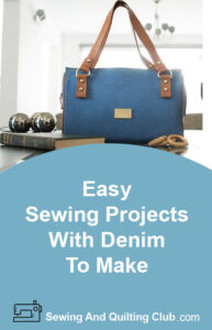 Easy Sewing Projects With Denim To Make - Denim Bag