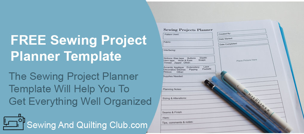 Free Sewing Project Planner Template