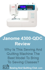 Janome 4300-QDC Review