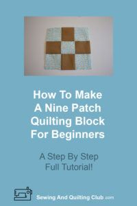 Nine Patch Quilting Block - Nine Patch Block
