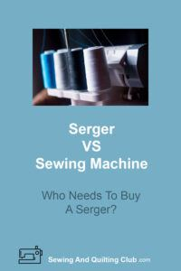 Serger VS Sewing Machine - Sewing Thread
