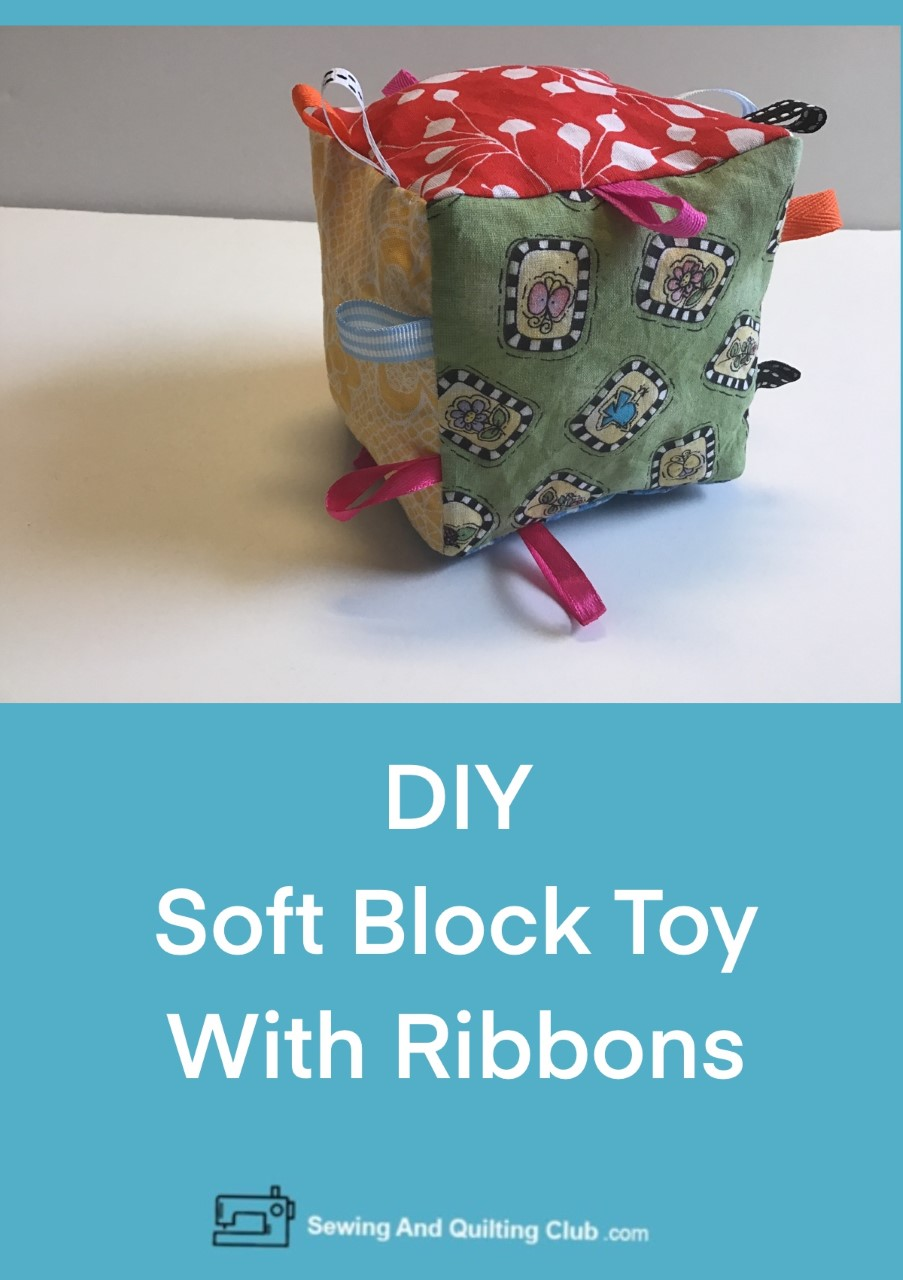 DIY Soft Block Toy With Ribbons