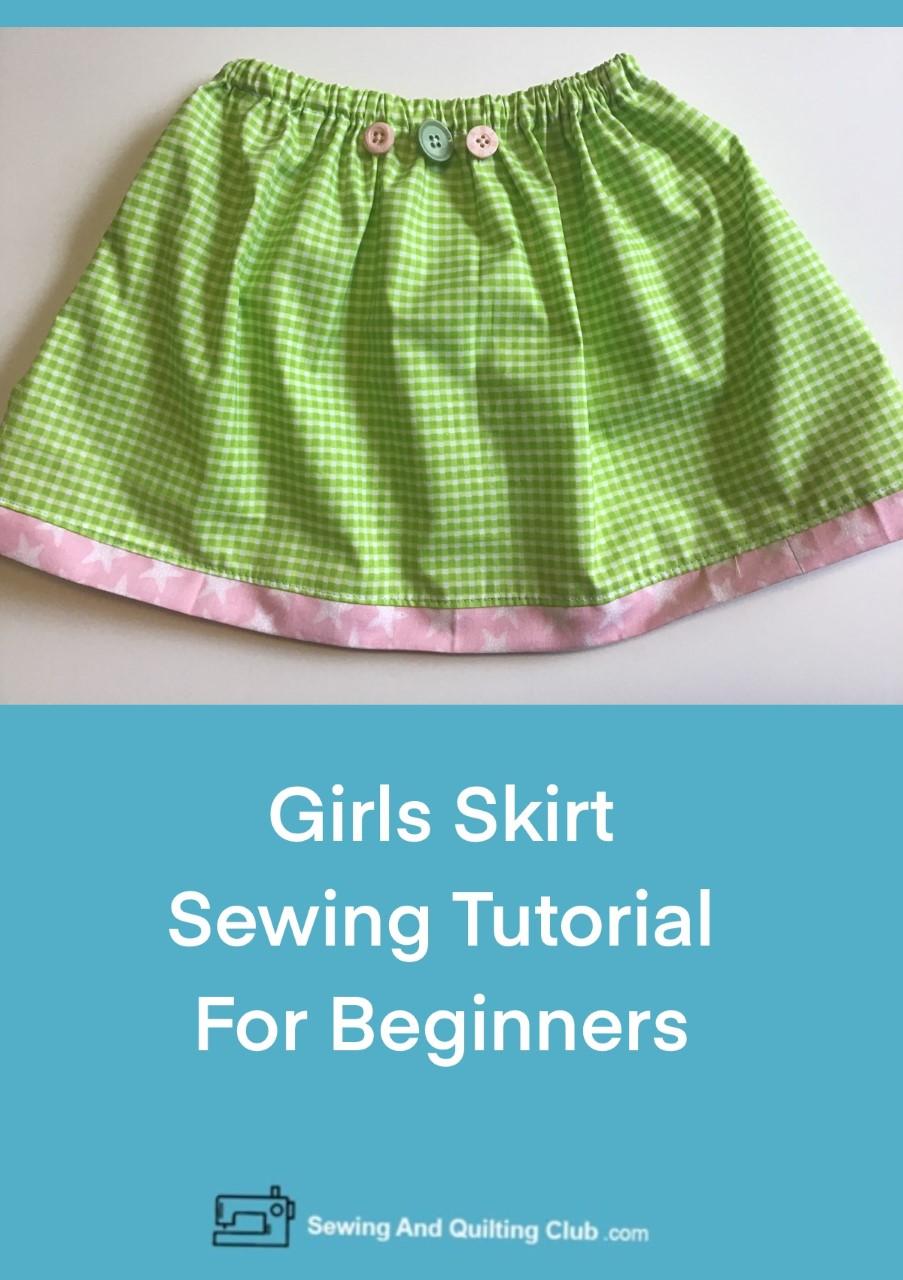 Girls Skirt Sewing Tutorial
