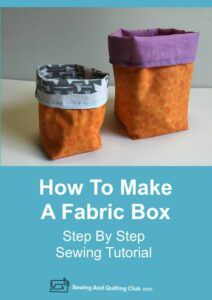 How To Make Fabric Box